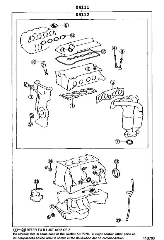 Engine Overhaul Gasket Kit for 2000 - 2005 Toyota RAV4 ...