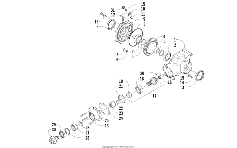 Rear Drive Gearcase Assembly