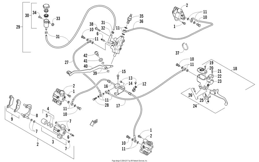 Главный тормозной цилиндр & Ручка тормоза