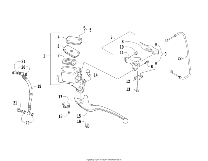 Hydraulic Hand Brake Assembly