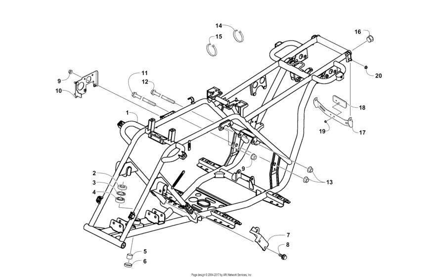 Frame And Related Parts Assembly