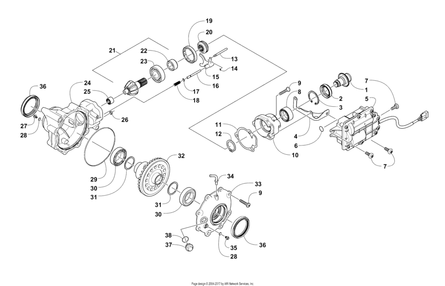 Front Drive Gearcase Assembly