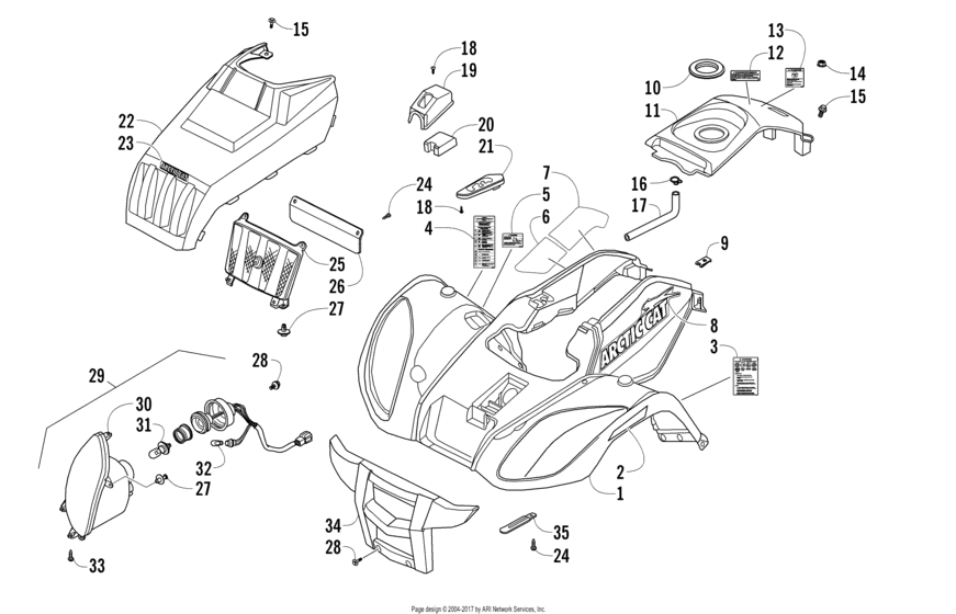 Front Body Panel And Headlight Assemblies
