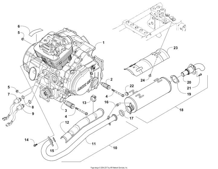 Engine And Exhaust