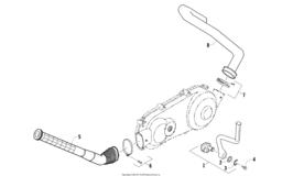 Лапка кикстартера & Шноркель боковой крышки