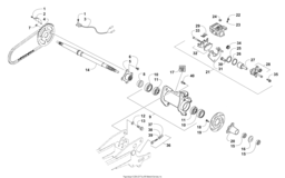 Rear Axle And Brake Assembly