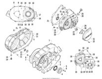 Clutch/v-Belt/magneto Cover Assembly