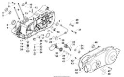 Left Crankcase And Cover Assembly