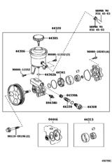 Vane Pump & Reservoir (Power Steering)