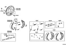 Rear Drum Brake Wheel Cylinder & Backing Plate