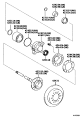 Rear Axle Shaft & Hub